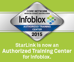 StarLink is an Authorized Training Center for Infoblox