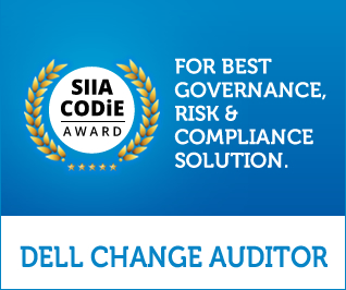 Dell Quest Change Auditor - Best Governance, Risk & Compliance Solution Awarded 2015